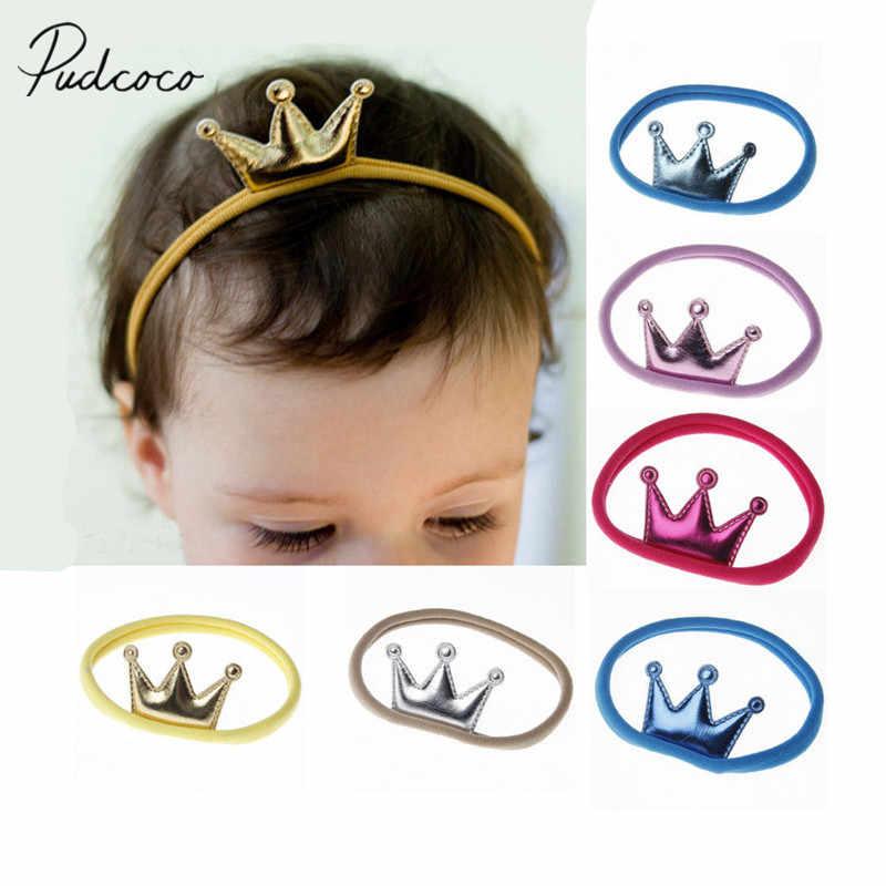 2018 Nova Marca Unisex Da Criança Do Bebê Da Menina do Menino Coroa Hairband Elastic Nylon Headband Headwear para Crianças Headband Do Bebê Crianças Presentes