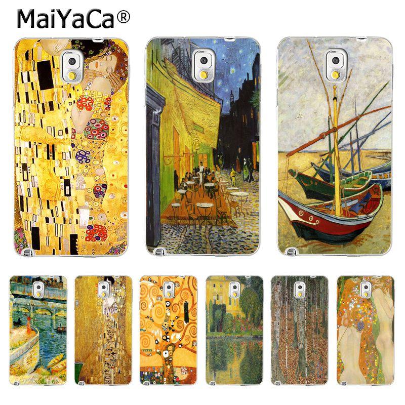 Maiyaca в Климт Картина маслом мать и сын Хит продаж дизайн моды кожа тонкий ПК cell чехол для Samsung S5 S6 S7 s8