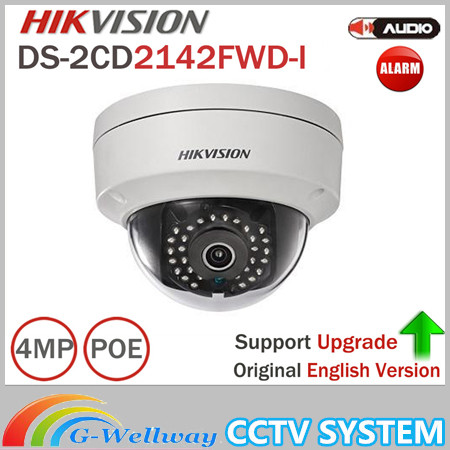 Hik 4MP IP Camer DS-2CD2142FWD-I IP POE Camera Day/night Infrared IP67 IK10 Protection Outdoor Dome Camera support ONVIF