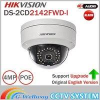 Hik 4MP IP Camer DS-2CD2142FWD-I IP POEกล้องวัน/คืนอินฟราเรดIP67 IK10การป้องกันน้ำโดมสนับสนุนกล้องONVIF