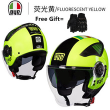 Top hot Italy brnds BYE 3/4 helmet motorcycle half open face casque motocross SIZE: M L XL,Capacete