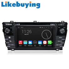 Likebuying 1024*600  Car 2 Din  QUAD CORE 16G DVD GPS Radio Stereo Navigator Android 4.4.4 for Toyota Corolla 2014