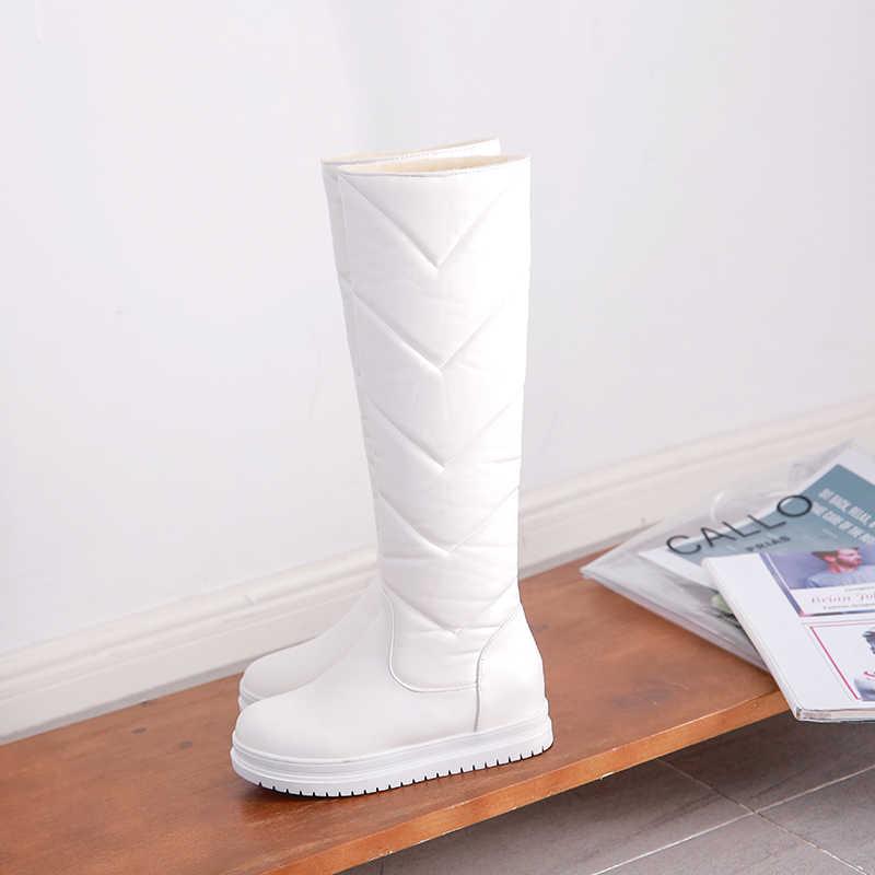 Klasik kadın kış çizmeler bayan kar botları kadın kış diz yüksek çizmeler kadın kışlık ayakkabı kadın çizme n530