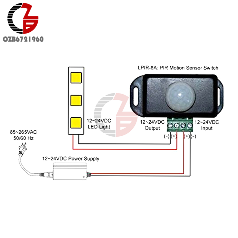 Dc 12v 24v 8a Automatic Adjust Pir Motion Sensor Switch Ir Infrared For Or 96w Led Lights Specifications 1 X