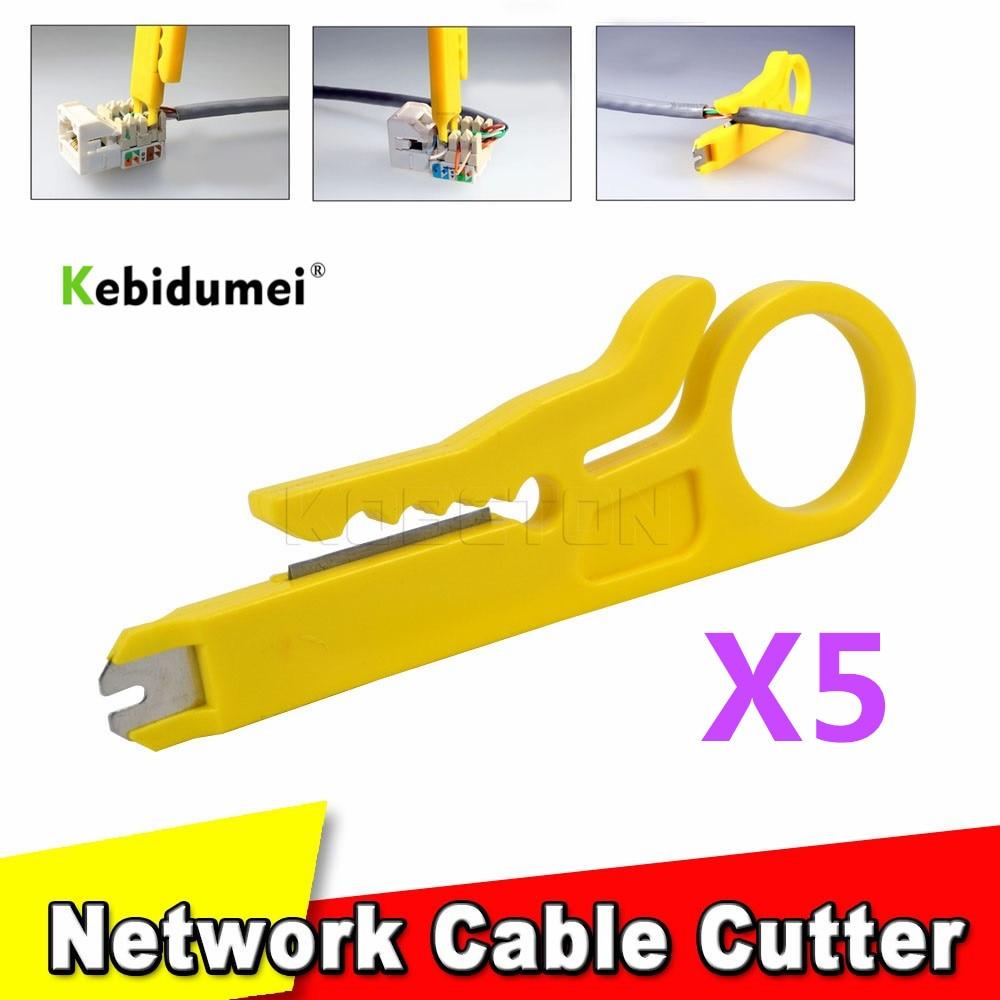 5 шт., инструмент для резки кабеля UTP, мини-инструмент для зачистки проводов 9 см