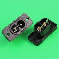 YuXi AC Power Connector Adapter 8 Type Opladen AC Jacks 2 Core Gaten Solderen Plug
