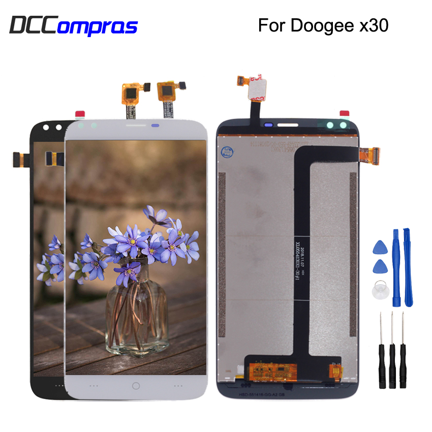 Original For Doogee X30 LCD Display Touch Screen Digitizer Assembly For Doogee X30 Phone Parts Screen LCD Free Tools