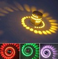 3 W RGB Led lâmpada de parede moderno artístico luz projeto lâmpadas lâmpada com espalhamento Whirlpool sombra alongamento amarelo verde branco quente
