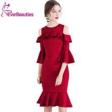 6a1e83664c Vestidos Cortos De cóctel 2019 Vestidos De vino rojo medio mangas  Homecoming Dresses Prom Party Vestidos Coctel Mujer