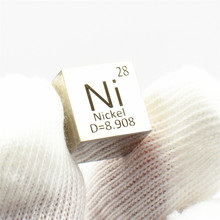 лучшая цена Nickel Polished Cube Ni Mirror Shining Currency Metal Element Collection Science Experiment 10x10x10mm Density Development