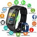 LIGE 2019 Новый смарт-браслет монитор сердечного ритма Фитнес трекер спортивный шагомер часы модные часы Smart Watch Для мужчин Фитнес часы + коробка