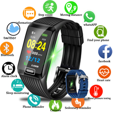 LIGE 2019 New Smart Bracelet Heart Rate Monitor Fitness Tracker Sports Pedometer Watch Fashion Men Watch+Box