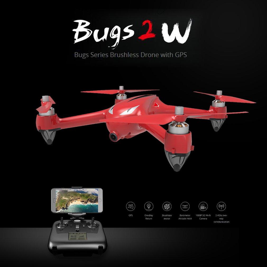 Hot B2W RC Drone 2.4G 4CH Wifi FPV 1080P HD Camera Drone Altitude Hold Auto Return Headless RC Quadcopter GPS Aircraft Dron Toys