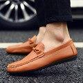 Sapatas dos homens 2016 Novos Homens de Melhor Qualidade Apartamentos Sapatos Casuais Preguiçosos Macio E Confortável Sapatos de Condução Frete Grátis