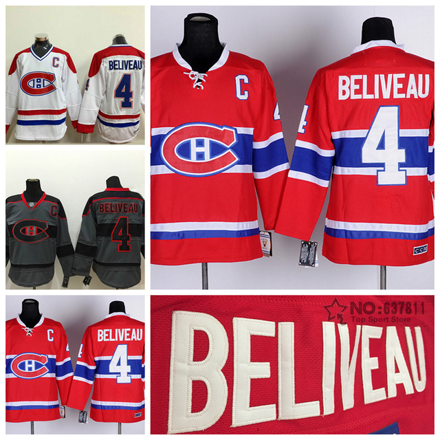 19ed4e49 ... where to buy good quality hot sale cheap montreal canadiens jean  beliveau vintage hockey jersey throwback
