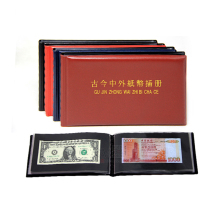 20 Pages photo Album Paper Money Album Holders Currency Banknote album for coins Collection Storage Pocket photoalbum Coin Album 10pcs pvc money banknote paper money album page collection holder sleeves 3 slot loose leaf sheet portable protection album