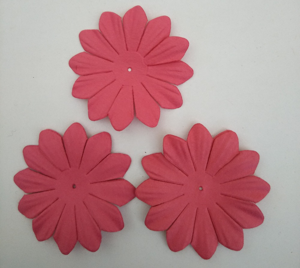 45mm Paper Flowersscrapbook Decorationdark Pink15pcslotscrapbooking Paper Flowers In Embellishments From Home Garden On Aliexpress