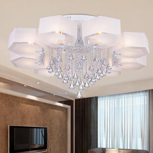 Webetop Moderne Deckenleuchte Kristall Wohnzimmer Deckenleuchte Acryl Rund  Led Beleuchtung Dekoration Led Deckenleuchte