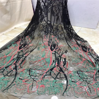 Latest French Nigerian Laces Fabrics High Quality Tulle African Laces Fabrics Wedding African French Tulle Lace TS7212