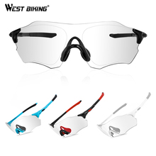 WEST BIKING Photochromic Cycling Glasses UV400 Outdoor Sports MTB Bicycle Run