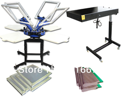 Fast free shipping discount 4 color silk screen printing kit t shirt printer press equipment carousel.jpg 250x250