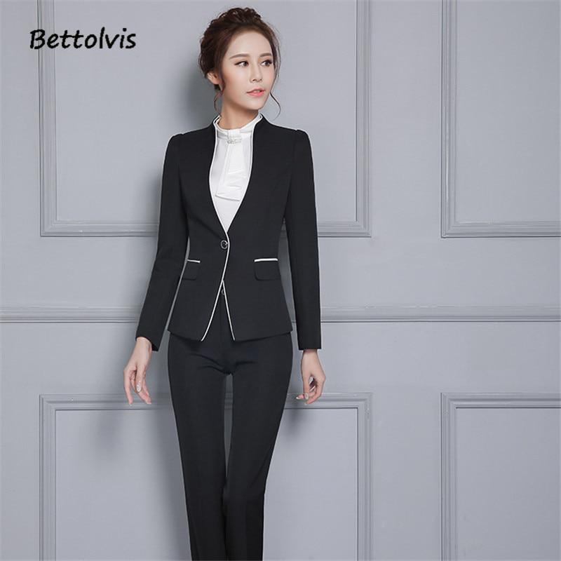 2018 Efterår kvindelige elegante bukser til kvinder Kvinder sæt - Dametøj - Foto 5