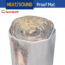 Cawanerl 400CM X 100CM Aluminum Foil Automotive Heat Sound Insulation Mat Deadener Deadening Sound Proofing Material 1Pcs
