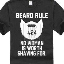 2018 Fashion 100% Cotton Slim Fit Top Normal Beard Rule #24 Men'S T Shirt Photo T Shirts Mens Tops Cool O Neck Tee Shirt