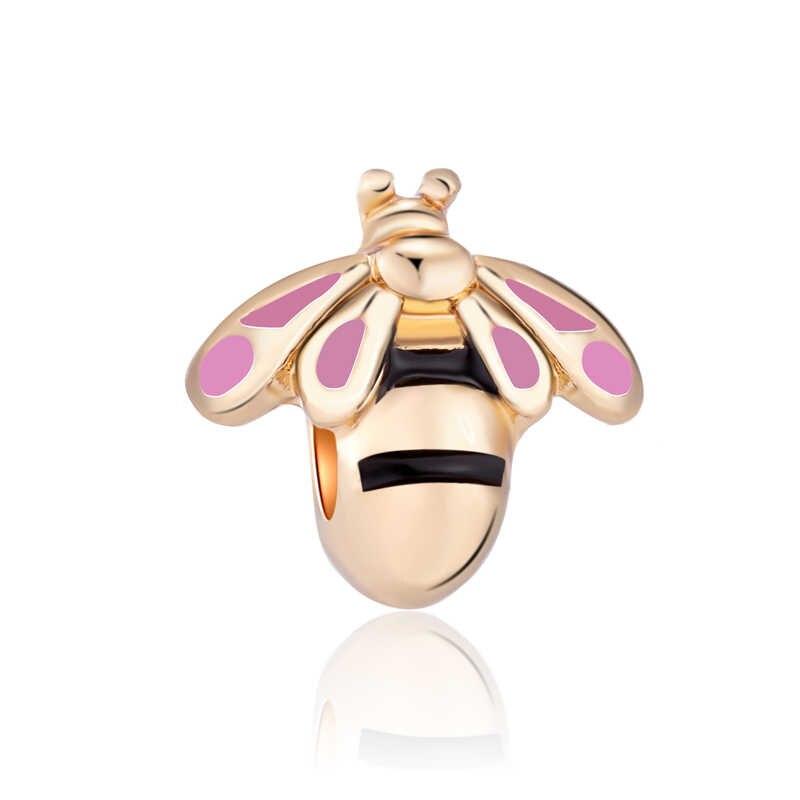 Модные Простые Стиль эльф пчела Астра сердце любовь Минни Кристалл Бусины Fit Pandora талисманы браслеты для женщин DIY ювелирных подарок