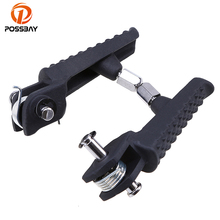 POSSBAY Black Motorcycle Foot Rests for Moto  Foot Pegs ATV for Yamaha YZF R1 YZF R6 R6S 2004 2005 2006 2007 2008 Moto Footrest стоимость