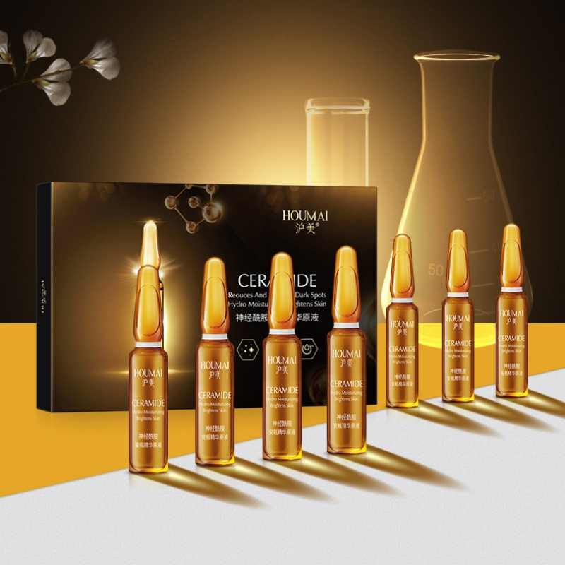 7 pcs/box Ceramide Ampoule Essence Shrinking Pores Firming Anti Wrinkle Face Serum Moisturizing Whitening Serum Skin Care