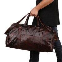 Модная Высококачественная Большая большая сумка из натуральной кожи для мужчин и женщин, водонепроницаемая сумка для путешествий