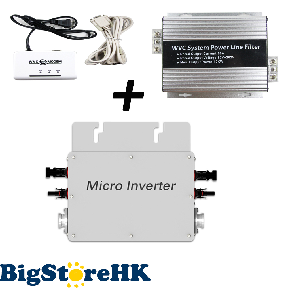 1200W 22V-50VDC Input 80V-160VAC Output Solar Power Grid Tie Micro Inverter  Include WVC-Modem  WVC Systen Power Line Filter solar power on grid tie mini 300w inverter with mppt funciton dc 10 8 30v input to ac output no extra shipping fee