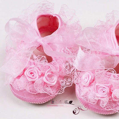 Lace Baby Girls Shoes Flower Toddler Infants Shoes Soft Cotton Princess Shoes