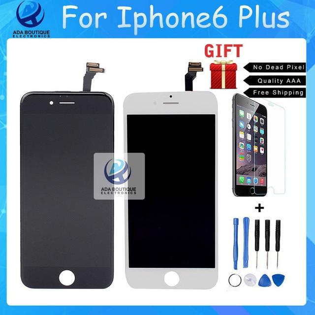 Лучшего Качества Класса ААА Для iPhone 6 Plus ЖК-Экран сенсорный Дисплей Дигитайзер Для LG 1:1 Стекло Черный Белый Бесплатный доставка
