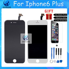 Best Quality Grade AAA For iPhone 6 Plus LCD Screen Touch Display Digitizer For LG  1:1 Glass Black  White Free Shipping