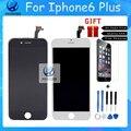 Melhor grau de qualidade aaa para iphone 6 plus tela lcd tela de toque de vidro digitador para lg 1:1 preto branco livre grátis