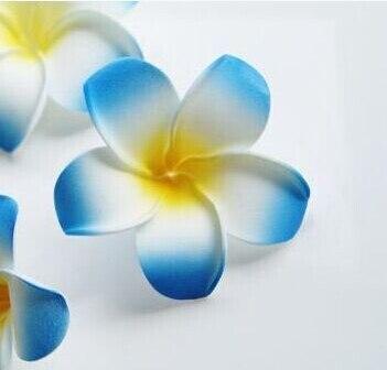 6 см Искусственный Плюмерия acutifolia PE Франгипани цветы, Рождественские Свадебные украшения орнамент, реквизит для фотографий, 200 шт - Цвет: Blue