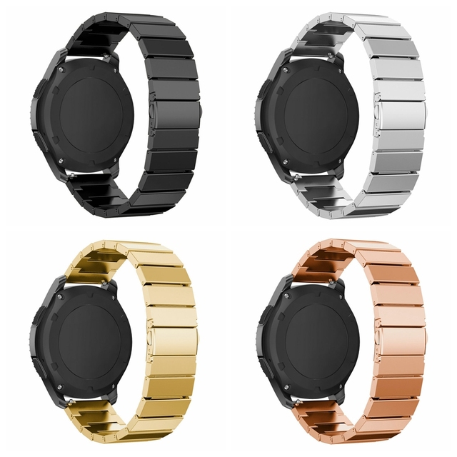 For Samsung Galaxy 46mm Stainless Steel Watch Band Metal Clasp for Samsung Gear