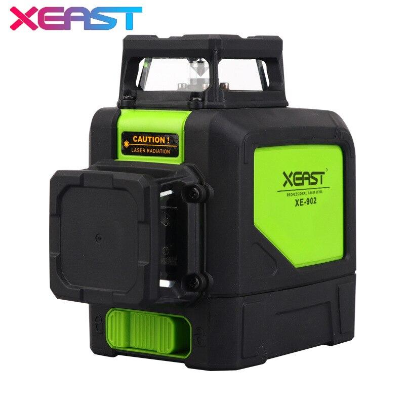 Niveau laser XEAST 8 lignes XE-902 de niveau Laser 3D 360 niveau Laser rouge auto-nivelant Vertical et HorizontalNiveau laser XEAST 8 lignes XE-902 de niveau Laser 3D 360 niveau Laser rouge auto-nivelant Vertical et Horizontal