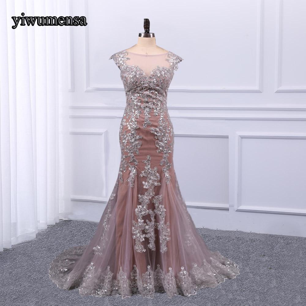 New Arrival vestido formatura   prom     dresses   long with Sliver Appliques Beaded custom made   Prom     dress   2018 vestido de festa gowns
