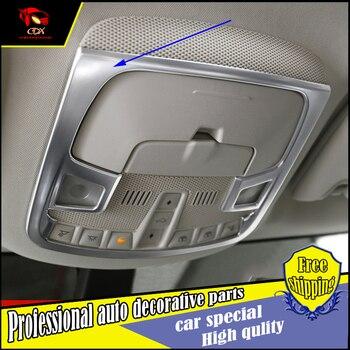 Styling mobil Membaca cahaya meliputi Bingkai Untuk Ford Ujung 2015 2016 ABS Chrome lampu baca cahaya Penutup Potong Dekorasi Dekorasi