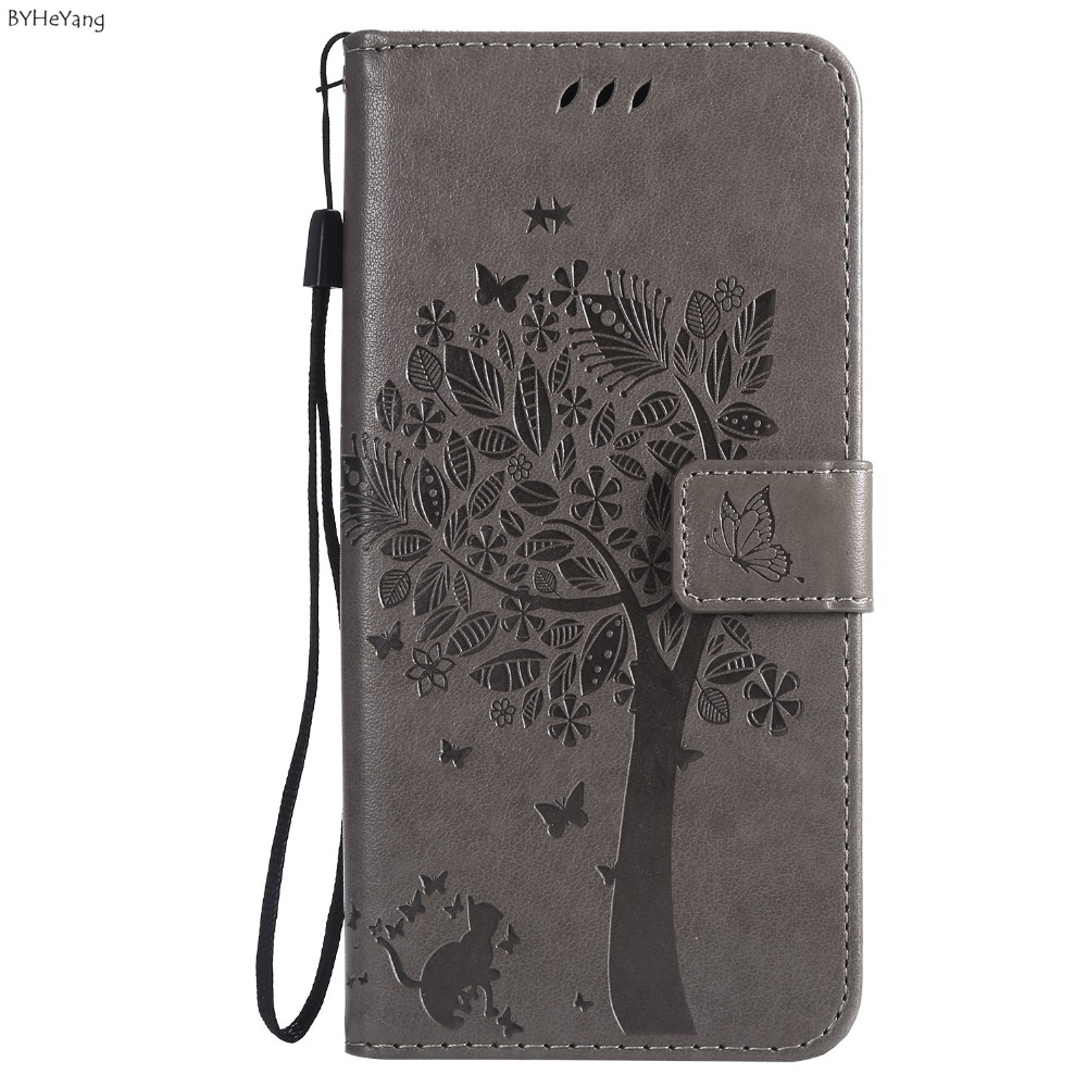 3D Tree Flip Leather Case For Samsung A7 2018 Case For Samsung Galaxy A7 2018 A750 Case Wallet Cover Stand Phone Cases <font><b>a72018</b></font> image