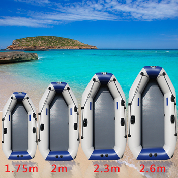 цена на 175-260cm PVC Inflatable Boat Wear-resistant Foldable Air Rowing Kayak/fishing boat for 1-5 person Fishing dinghy Outdoor Sports