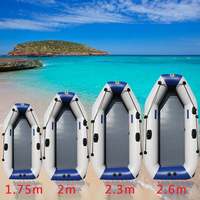 175 260cm PVC Inflatable Boat Wear resistant Foldable Air Rowing Kayak/fishing boat for 1 5 person Fishing dinghy Outdoor Sports