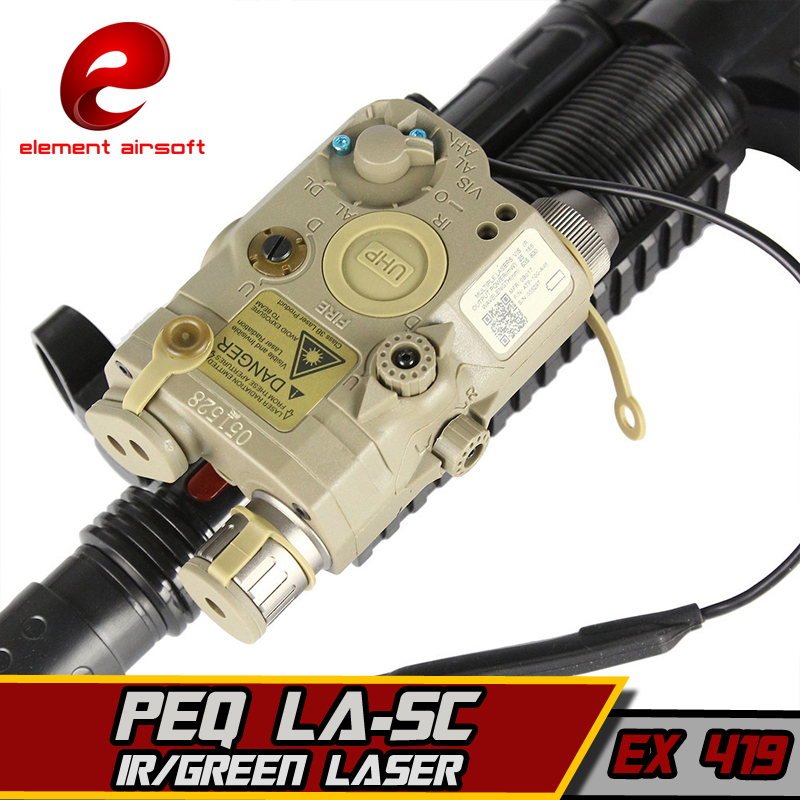 EX419 Element Airsoft Military-Flashlight Laser Combo LA-5C PEQ UHP Appearance Green Laser And Flashlight Hunting Weapon lights element ex276 peq15 battery case military high precision red dot laser integrated with led flashlight red laser and ir lens