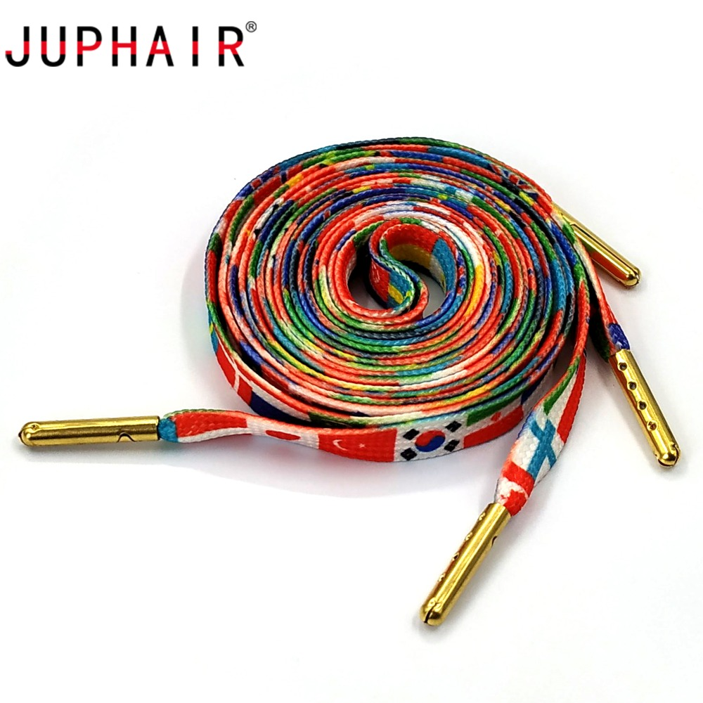 1 Pair Flag Zebra Leopard Print Shoelaces with Gold Metal Tips  Colorful Rainbow Striped Sneaker Sport Shoe Laces Strings 180cm