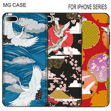 Фотография Cute Bird Japanese Crane Phone Cover Bag For Iphone Apple 5 5C 5S 5SE 6 6S 6Splus Tiger Lion Phone Cases For Iphone 7 8 Plus X