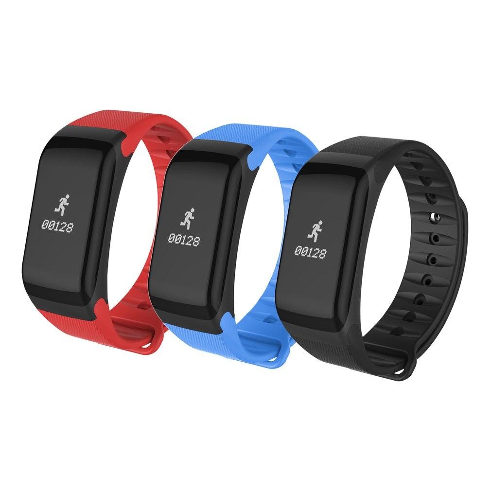 F1 Smartband Heart Rate Monitor Health Sleep Wrist Watch Waterproof Call Reminder Smart Wristband Bracelet no 1 f1 heart rate monitor smart bracelet blue