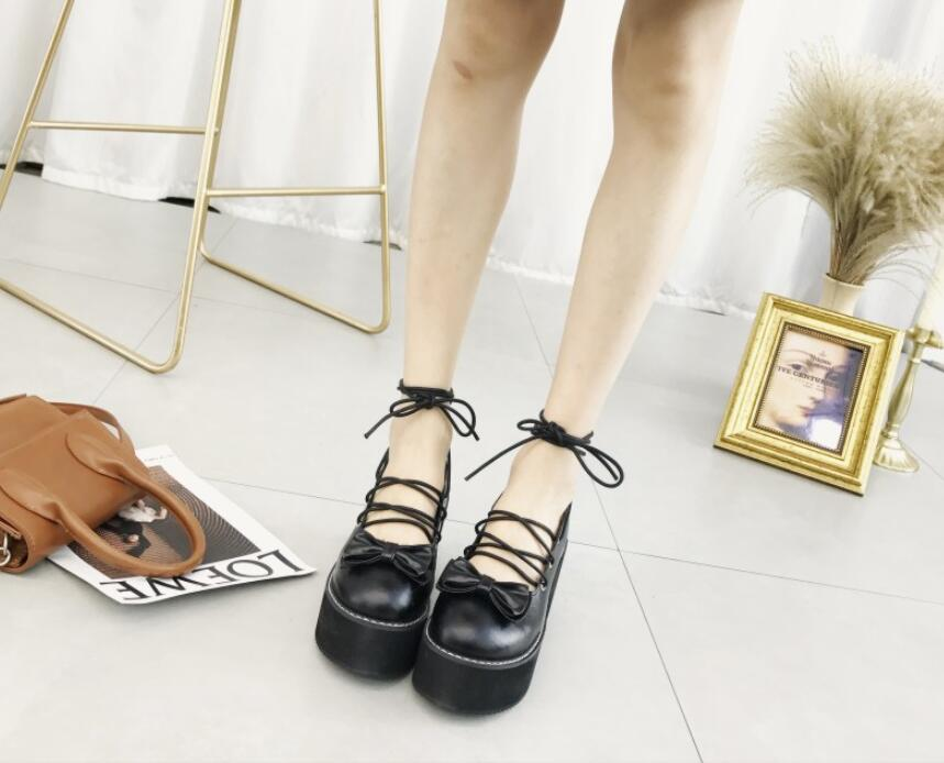 Mujeres Planos Señoras Pie De Primavera Nueva Las Plataforma Negro Redondo Cruz 2019 Arco Plana Mujer Tobillo Zapatos Dedo Del Correa Verano nUAwxHOHq